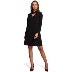 Textil Ženy Krátké šaty Style S233 Šaty s šifonovým šátkem - černé