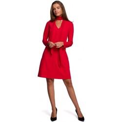 Textil Ženy Krátké šaty Style S233 Šaty s šifonovým šátkem - červené