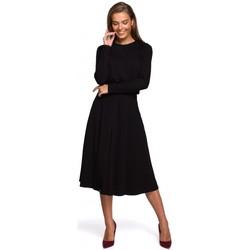 Textil Ženy Společenské šaty Style S234 Přiléhavé šaty - černé