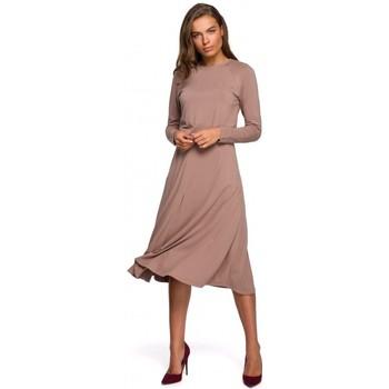 Textil Ženy Společenské šaty Style S234 Přiléhavé šaty - cappuccino