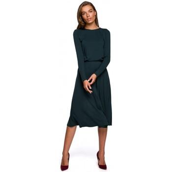 Textil Ženy Společenské šaty Style S234 Přiléhavé šaty - tmavě zelené