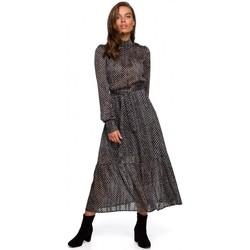 Textil Ženy Společenské šaty Style S238 Sukienka midi szyfonowa w groszki - model 2