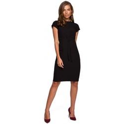 Textil Ženy Krátké šaty Style S239 Tužkové šaty s páskem na zavázání - zelené