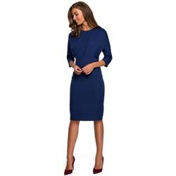 Textil Ženy Krátké šaty Style S242 Šaty s netopýřími rukávy - tmavě modré