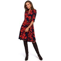 Textil Ženy Krátké šaty Style S247 Zavinovací šaty s potiskem - model 1