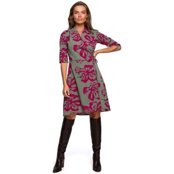 Textil Ženy Krátké šaty Style S247 Zavinovací šaty s potiskem - model 2