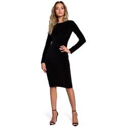 Textil Ženy Krátké šaty Moe M565 Sametové tužkové šaty - černé