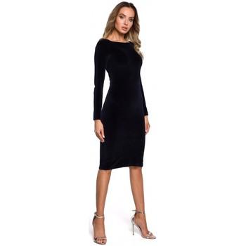 Textil Ženy Krátké šaty Moe M566 Sametové šaty uvolněného střihu - černé