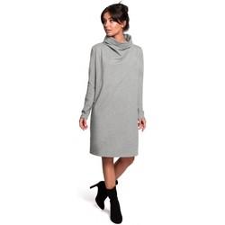Textil Ženy Krátké šaty Be B132 Šaty s vysokým límcem - šedé