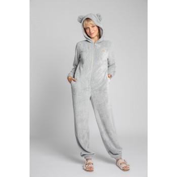 Textil Ženy Overaly / Kalhoty s laclem Lalupa LA006 Fluffy Knit Onepiece Onesie - světle šedá