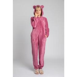 Textil Ženy Overaly / Kalhoty s laclem Lalupa LA006 Fluffy Knit Onepiece Onesie - heather