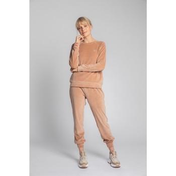Textil Ženy Svetry Lalupa LA011 Sametový svetr s rukávy Reglan - béžový