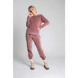 Textil Ženy Svetry Lalupa LA011 Sametový svetr s rukávy Reglan - krepově růžový
