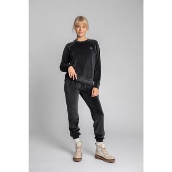 Textil Ženy Mikiny Lalupa LA011 Sametový svetr s rukávy Reglan - grafitový
