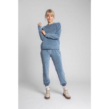 Textil Ženy Mikiny Lalupa LA011 Sametový svetr s rukávy Reglan - modrý
