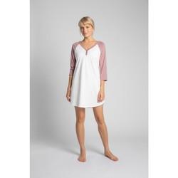 Textil Ženy Pyžamo / Noční košile Lalupa LA018 Bavlněné barevné tričko na spaní - broskvové