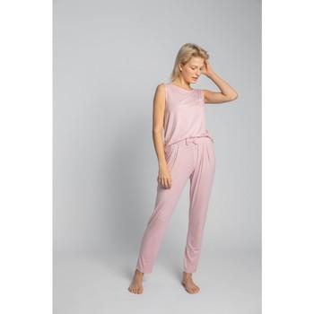 Textil Ženy Pyžamo / Noční košile Lalupa LA025 Viskózové pyžamové kalhoty - růžové