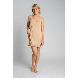 Textil Ženy Pyžamo / Noční košile Lalupa LA031 Viskózová košilka - cappuccino