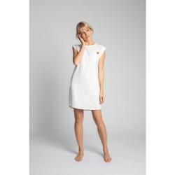 Textil Ženy Krátké šaty Lalupa LA033 Bavlněné žebrované šaty na spaní - ecru barva
