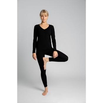 Textil Ženy Legíny Lalupa LA035 Bavlněné legíny s žebrováním - černé