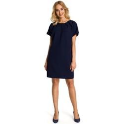 Textil Ženy Krátké šaty Moe M337 Šaty s řasením - tmavě modré