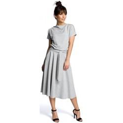 Textil Ženy Krátké šaty Be B067 Rozšířené šaty - šedé
