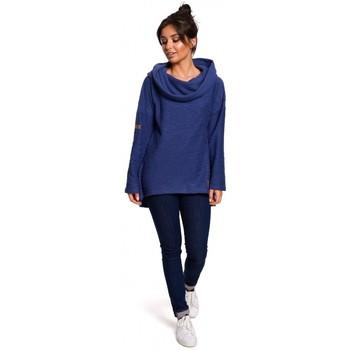 Textil Ženy Mikiny Be B131 Svetr s vysokým límcem - indigo