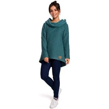 Textil Ženy Mikiny Be B131 Svetr s vysokým límcem - tyrkysový