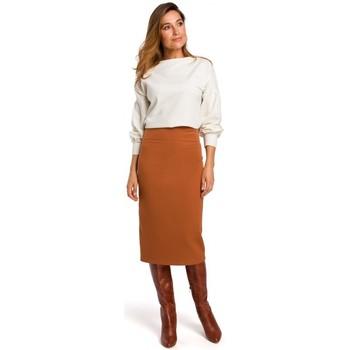 Textil Ženy Sukně Style S171 Tužková sukně s vysokým pasem - zrzavá