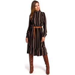 Textil Ženy Krátké šaty Style S182 Pruhované šaty s páskem s přezkou - model 1