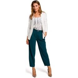 Textil Ženy Svetry Style S198 Kardigan s patentkami - ecru