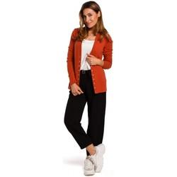 Textil Ženy Svetry Style S198 Kardigan s patentkami - zrzavý