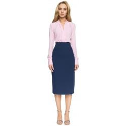 Textil Ženy Sukně Style S065 Tužková midi sukně - tmavě modrá