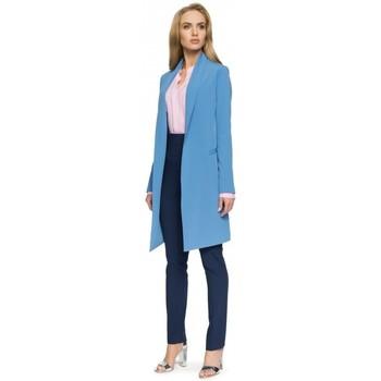 Textil Ženy Obleková saka Style S071 Dlouhé sako - modré