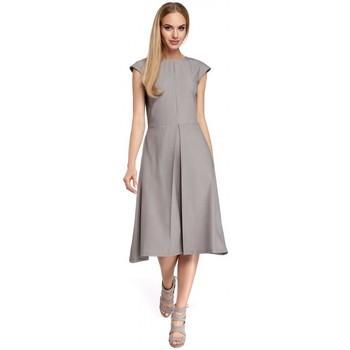 Textil Ženy Krátké šaty Moe M296 Šaty s obrácenými záhyby - tmavě modré
