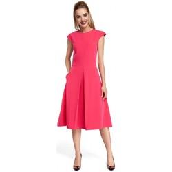 Textil Ženy Krátké šaty Moe M298 Šaty se zavazováním za krk - šedé