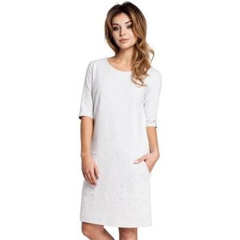 Textil Ženy Krátké šaty Be B033 Box shift dress - stracciatella
