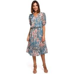 Textil Ženy Krátké šaty Style S215 Šifonové šaty s volánovým lemem - model 4