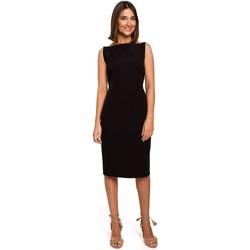 Textil Ženy Krátké šaty Style S216 Tužkové šaty bez rukávů - černé