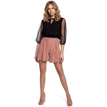 Textil Ženy Kraťasy / Bermudy Makover K049 Uvolněné šortky - růžové