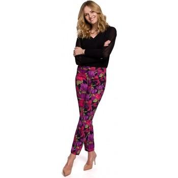 Textil Ženy Kalhoty Makover K053 Kalhoty Slim s potiskem - model 2