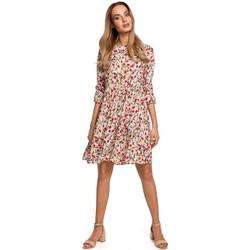 Textil Ženy Krátké šaty Moe M521 Šaty s nařasenými rukávy - model 5