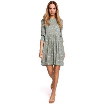 Textil Ženy Šaty Moe M521 Šaty s nařasenými rukávy - model 7