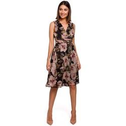 Textil Ženy Šaty Style S225 Šifonové šaty s hlubokým výstřihem - model 4
