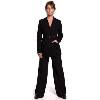 Textil Ženy Obleková saka Be B159 Blejzr s přezkou - hnědý
