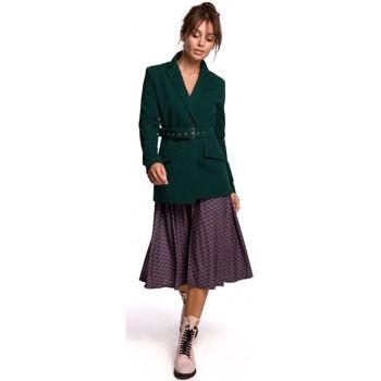 Textil Ženy Obleková saka Be B159 Blejzr s přezkou - tmavě modrý