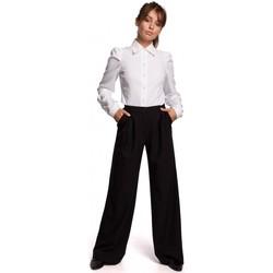 Textil Ženy Kalhoty Be B164 Široké kalhoty - černé