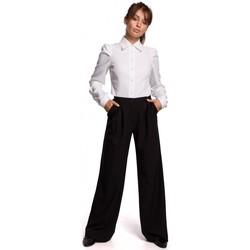 Textil Ženy Košile / Halenky Be B165 Košile s puff rukávem - bílá