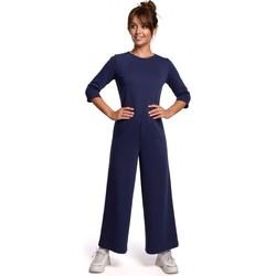 Textil Ženy Overaly / Kalhoty s laclem Be B174 Kombinéza se širokými nohavicemi - modrá