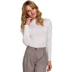 Spodní prádlo Ženy Body Makover K072 Body s nabíranými rukávy - ecru